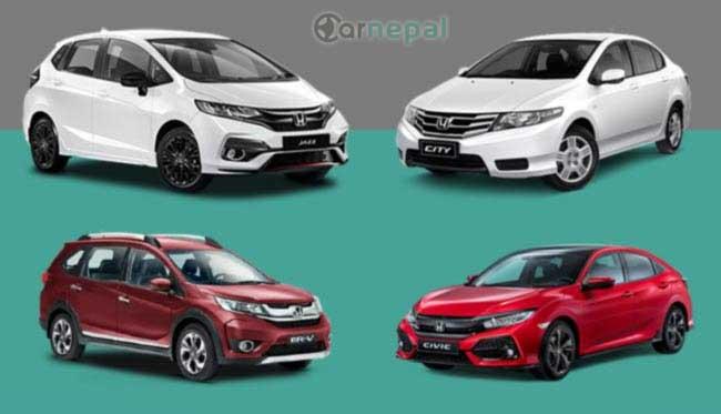 Honda Cars price in Nepal